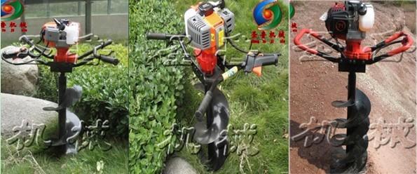 汽油挖坑机           蔬菜大棚打坑机