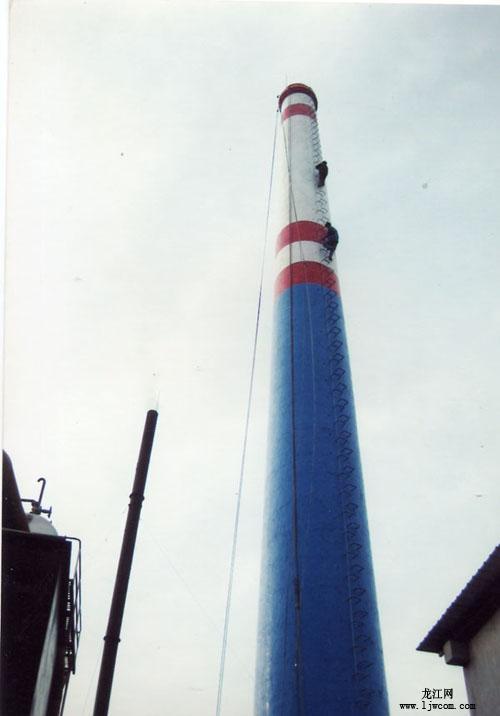 嘉鱼刷烟囱公司-烟囱粉刷油漆施工队