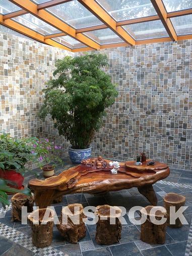 下沉式庭院铝木阳光房