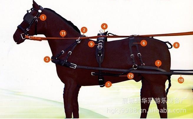 耐用马套/拉不断的马挽具/马笼头/设计合理的马挽具YC-WJ002