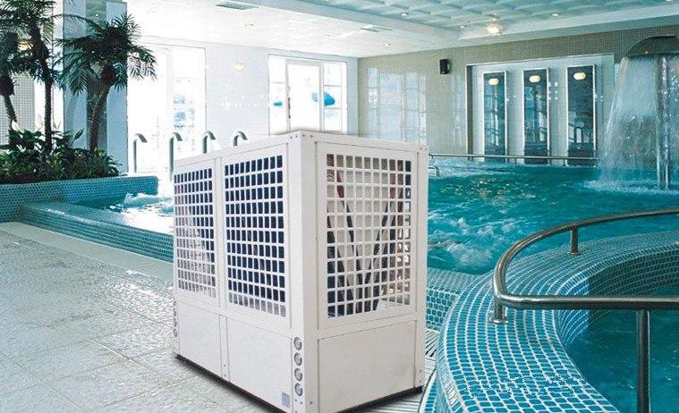 恒温游泳池热水器供应厂家优惠的游泳池空气能热水器蓝天绿水供应