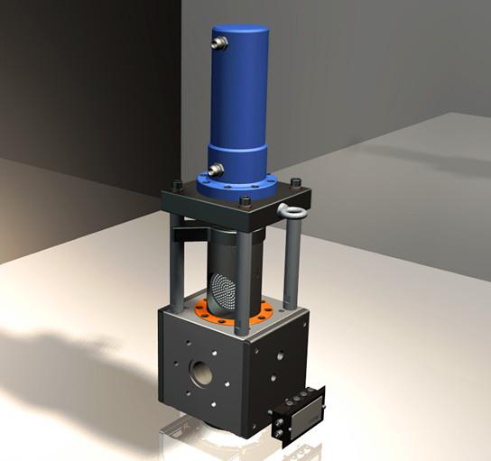 液压换网系统    单柱液压换网器系列:    ●无机械密封结构,保证