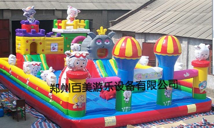 广西新款充气城堡蹦蹦床、好看的充气游乐设备