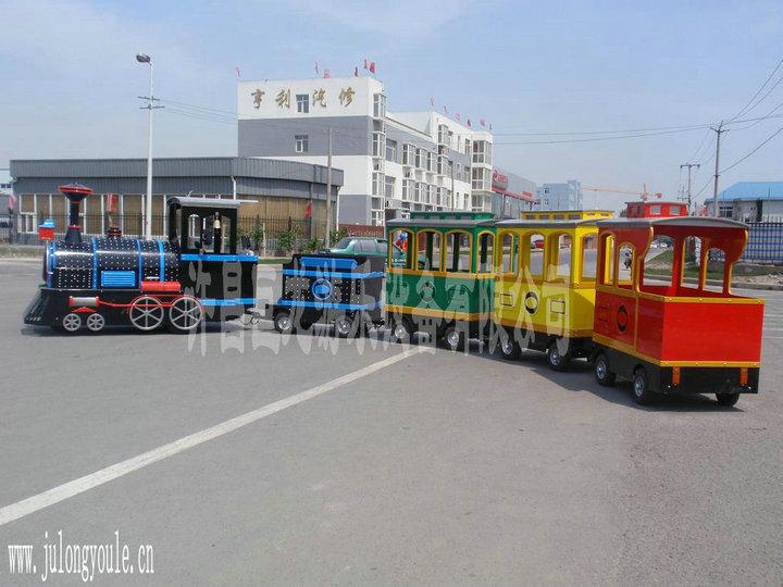 大型游乐设施-无轨观光火车(河南知名厂家巨龙产品规格介绍)