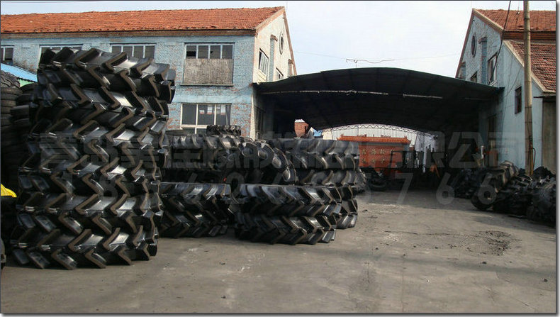公司生产农业机械轮胎、工业轮胎、特种轮胎、实心轮胎、地毯地垫、劳保手套