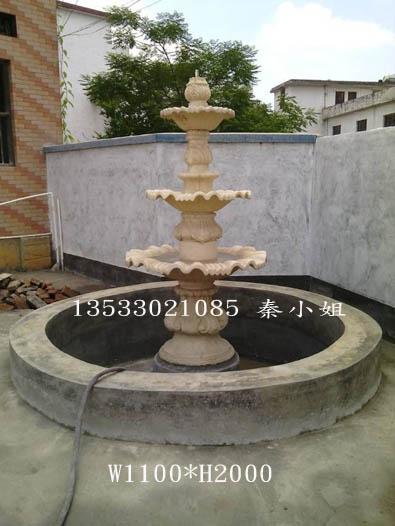 人造砂岩雕塑喷泉 欧式砂岩喷泉 景观喷水池喷泉雕塑