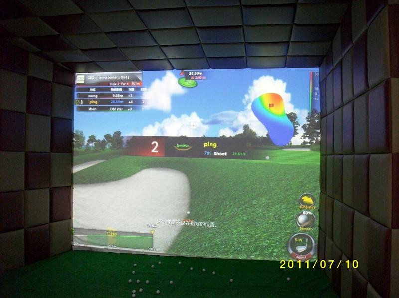 博迪3d高速摄像室内模拟高尔夫模拟器韩国直销终身保修