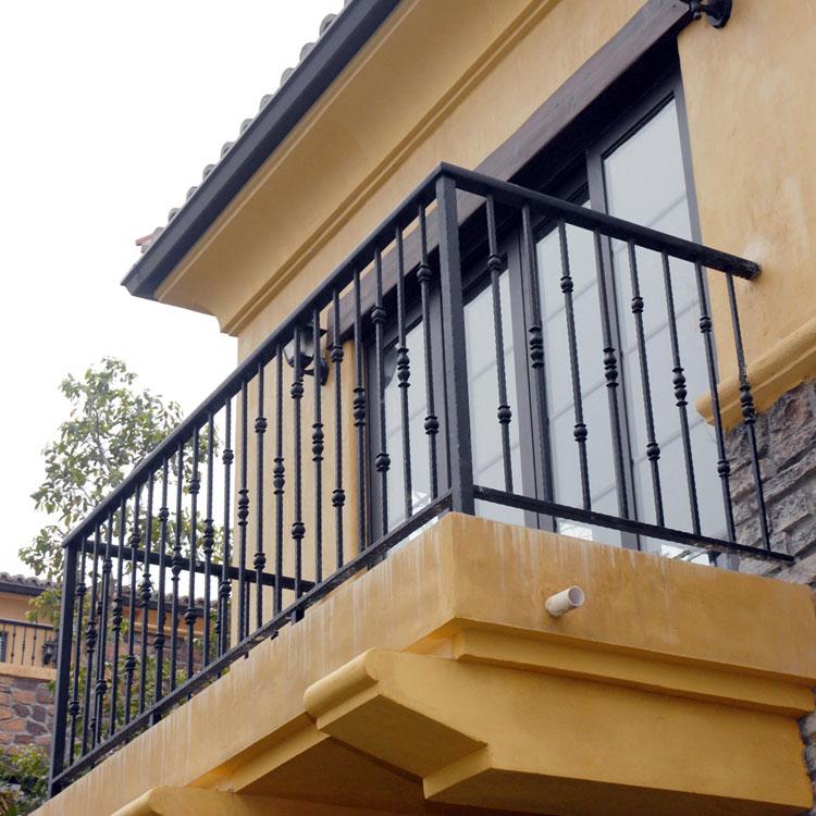 欧式铁艺楼梯扶手防护栏阁楼护栏走廊栏杆扶手户外