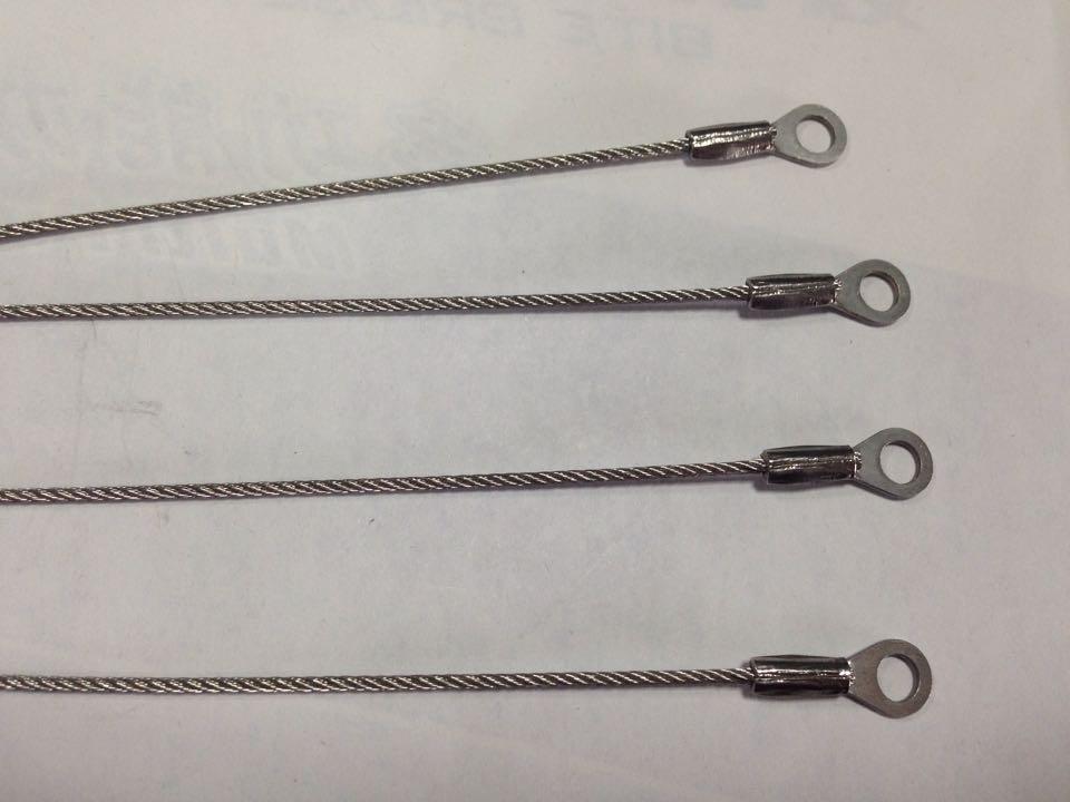 广东工厂压制接头钢丝绳冲床压制端子钢丝索保险绳
