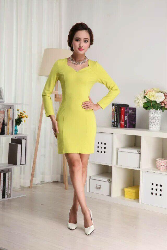 厂家生产酒店服新款套装韩版职业打底美容连衣裙 包臀修身显瘦一步裙