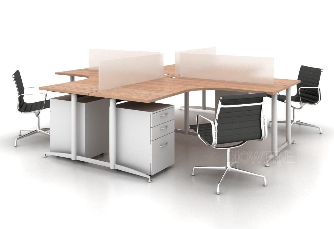深圳漢風辦公家具開放型工作站辦公桌可定制