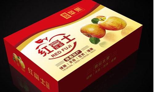成都彩箱包装厂批发定制红富士苹果包装箱图片