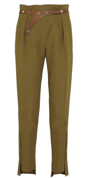 OEM/ODM欧美风女款直筒个性风军绿色长裤