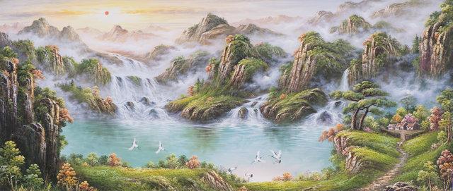 对鑫千绿画业而言,提供高级;中级;低级的风景画是对客户负责的