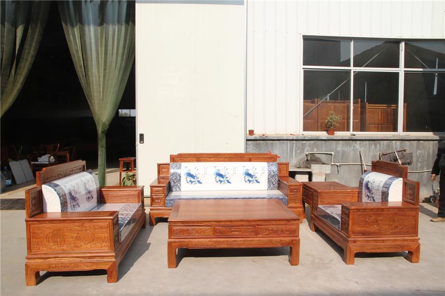 卓瑞高背博古沙发厂家直销东阳红木家具东阳木雕仿古