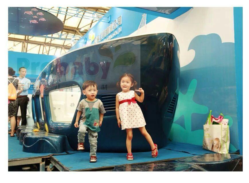 亲娃亚克力一体成型儿童游泳池超大豪华恒温加热婴幼儿多功能游泳