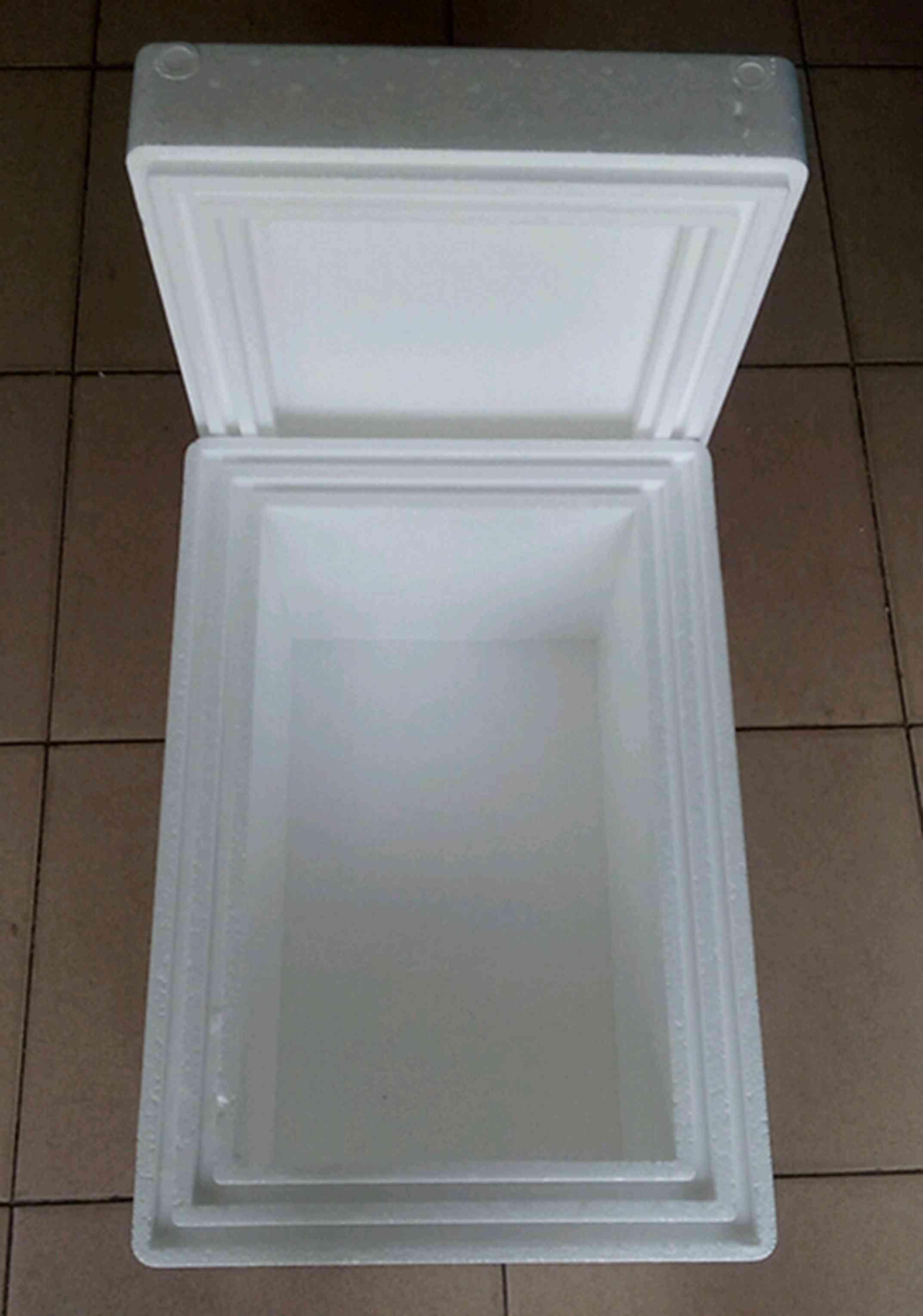 特大加厚泡沫箱高密度冷藏箱生物试剂专用箱590X400X385