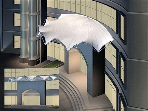 迈博膜结构雨棚