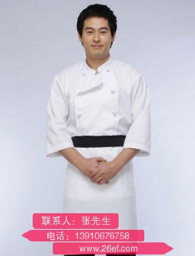 上海哪有绣龙厨师服批发货源