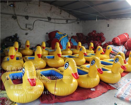 充气小黄鸭、水上浮具皮筏小黄鸭 焦作致远生产