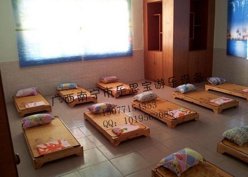 厂家直销幼儿园实木床/广西幼儿园床上用品儿童木床/广西幼儿园儿童木床批发