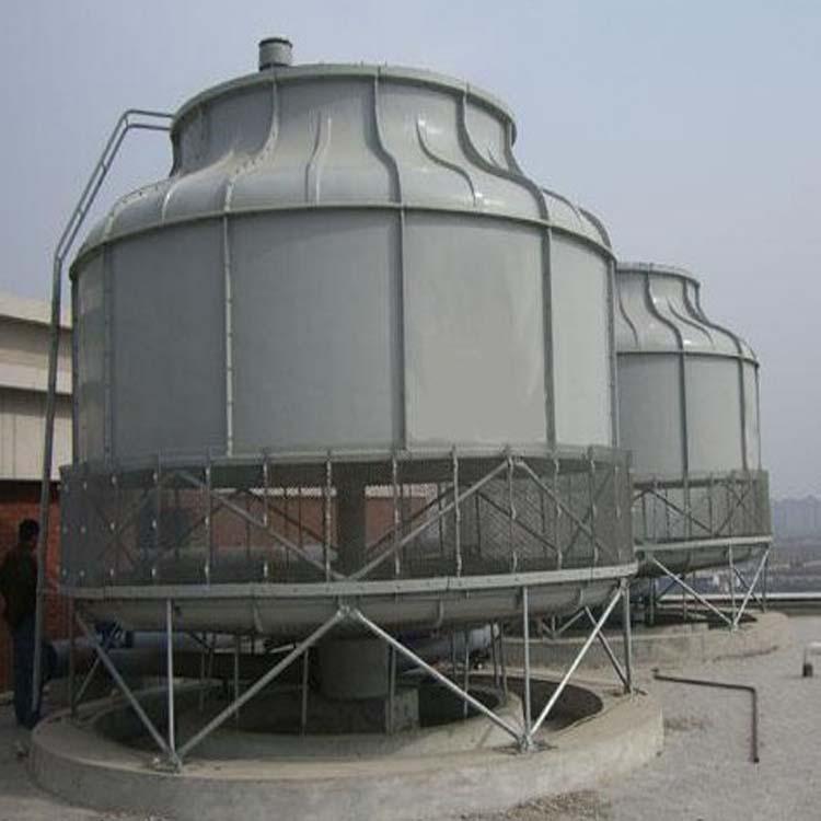 圆形逆流式玻璃钢冷却塔 工业用玻璃钢冷却塔