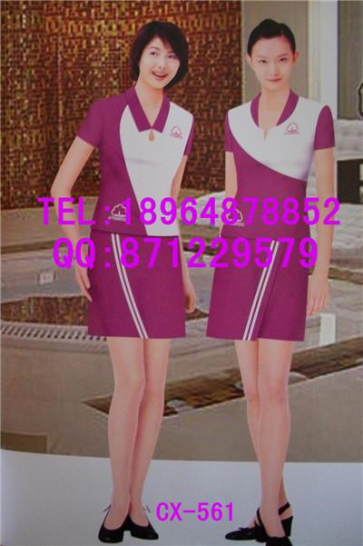 夏季促销员工作服 广告促销服设计 牛奶促销装定制亿妃服饰