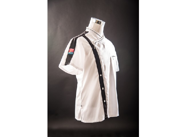 短袖厨师服设计:想买合身厨师服就到盛玉职业服装