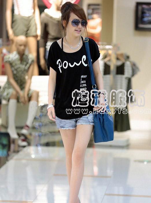 红河女装夏装新款百搭T恤 厂家女装库存一手货源纯棉T恤