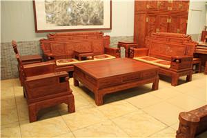 缅甸花梨客厅家具大全 王义手工红木家具