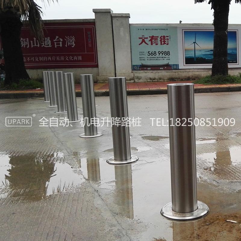 不锈钢自动防撞路桩遥控升降路桩电动升降阻车柱