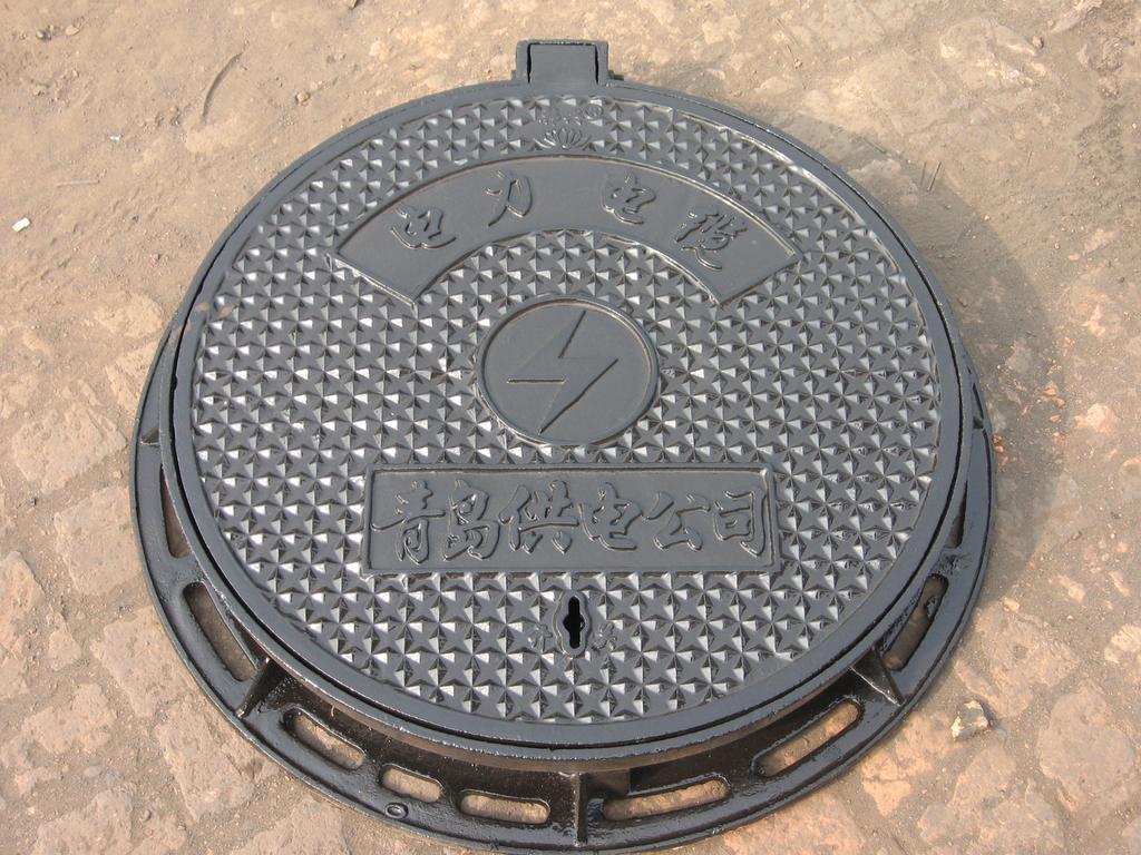 圆形球墨铸铁井盖300x500球墨铸铁盖板