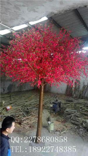 真树杆仿真樱花树、仿真盆栽精品仿真樱花树定制 仿真树生产制  作