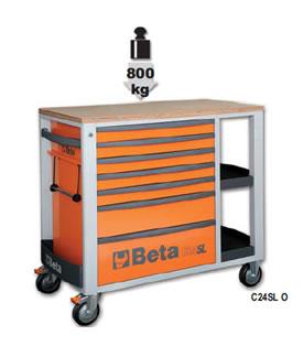 广州新玛总经销Beta工具-进口7抽屉工具车