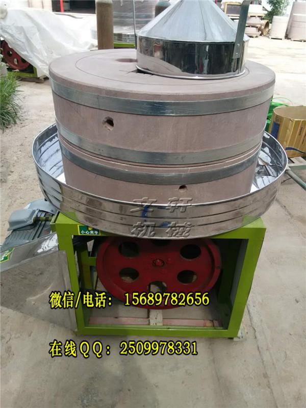 黑龙江专用米浆石磨机、玉米面粉电动石磨图片电动石磨机