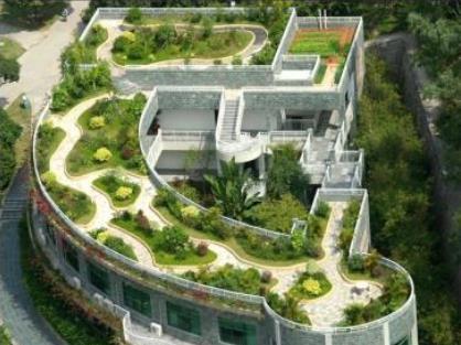 盈利性屋顶花园是指建立在宾馆,饭店等单位内部的屋顶花园,建造屋顶
