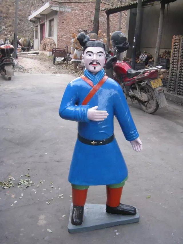 国宝 兵马俑复制品摆件 兵马俑五件套批发 出土颜色 秦始皇兵马俑像