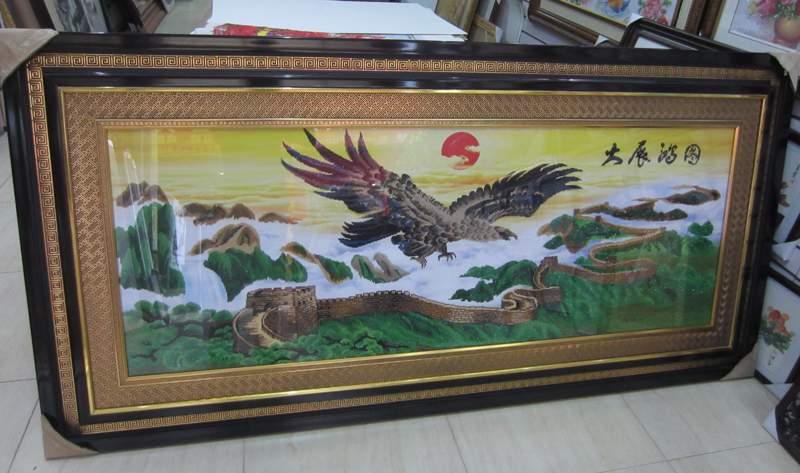 南宁十年专业装裱书画、十字绣就在南宁华艺画业