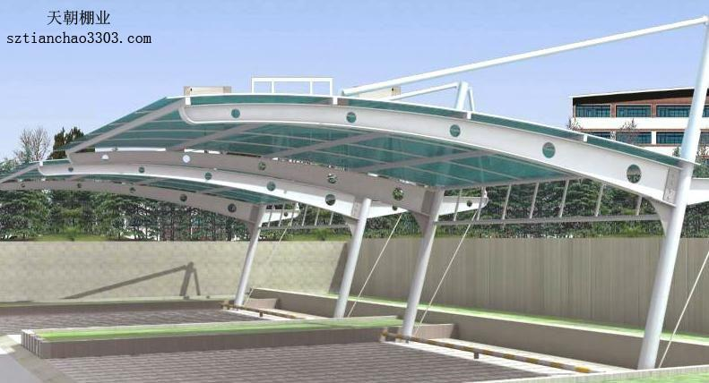 南昌钢结构车棚 可设计制作施工安装