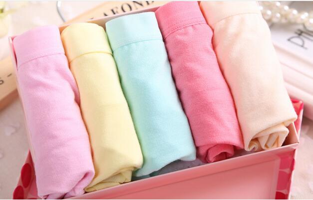 全棉女内裤中低腰三角平角纯棉 10条一组12色可选现货