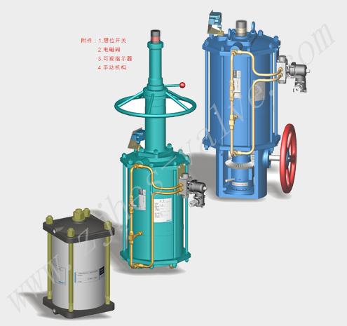 气动直行程执行器气动阀门厂家华尔士自控仪表