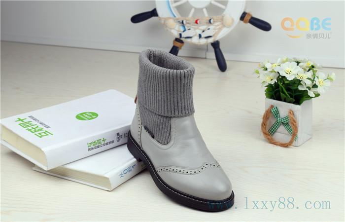 亲情贝儿童鞋2015年真皮童靴冬季新款儿童皮靴