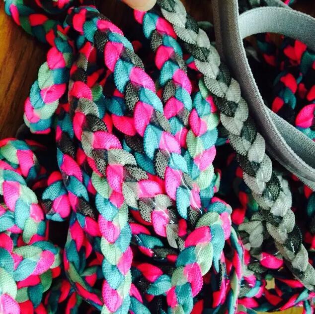 编织头带铺胶防滑滴胶头带提花防滑发带