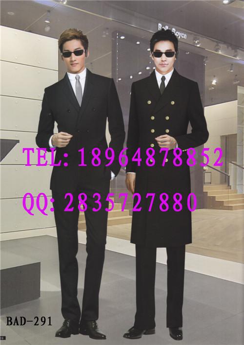 物业保安大衣定制、酒店保安门童大衣、羊毛大衣长款加厚加棉内胆亿妃服饰