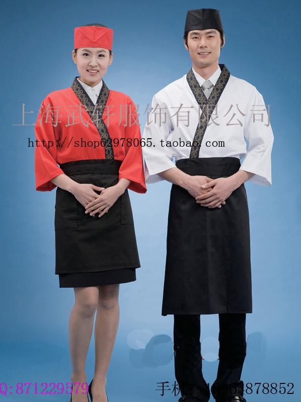 日本料理服定做、日式工作服定制、上海和服订制厂家 寿司工作服厨师服