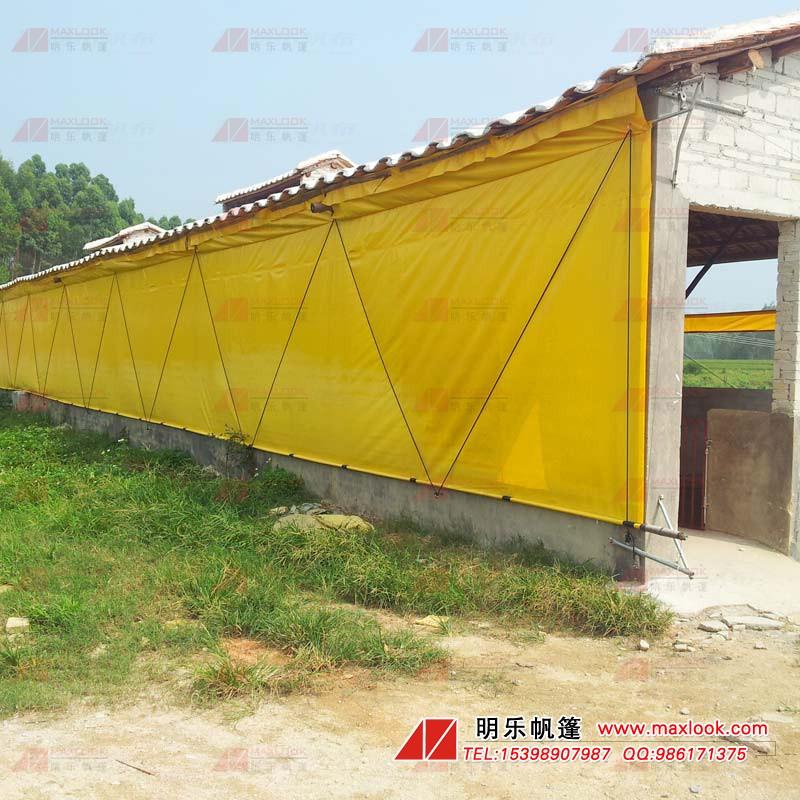 文昌鸡卷帘-帆布养殖卷帘-帆布卷帘厂家