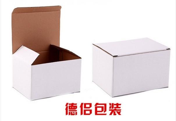 白色瓦楞纸盒定做 袜子包装盒现货 可印刷logo 长方形纸盒订做