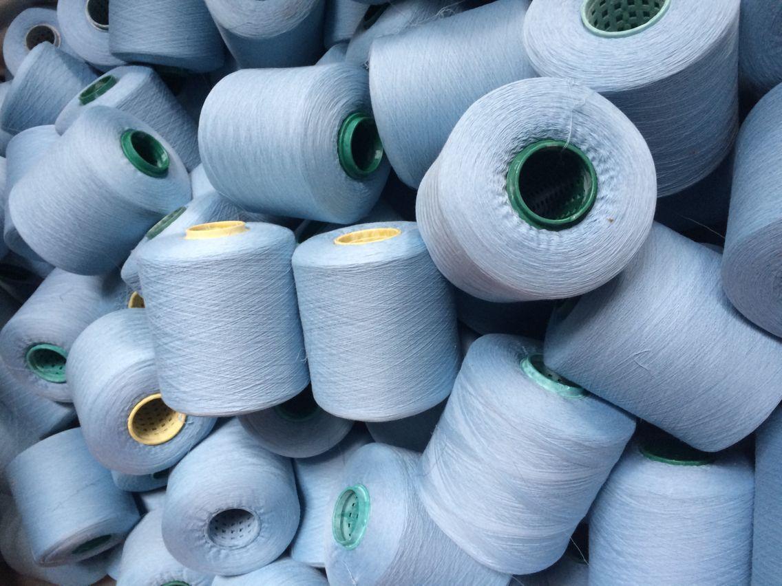 针织袜子专用色纱 染色棉纱