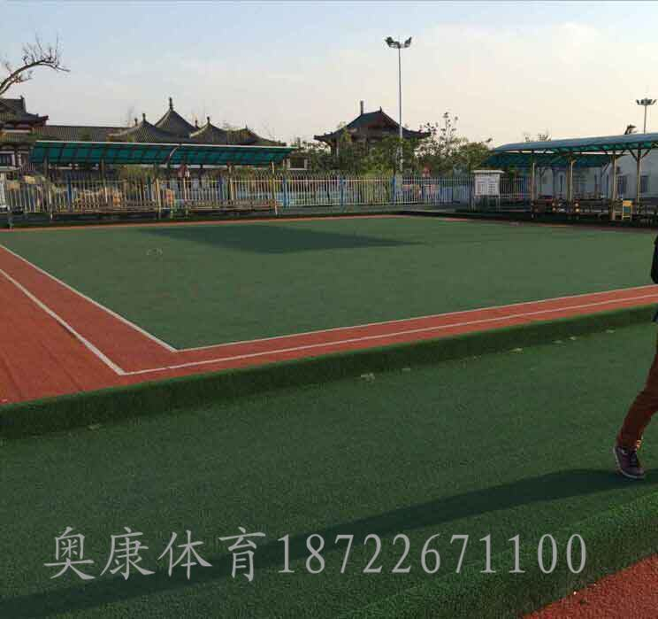 同心县足球场塑胶草坪/足球场人造草坪施工
