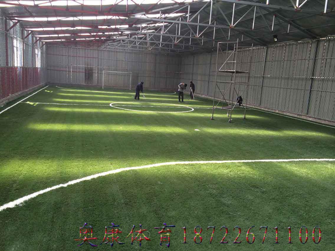 卫辉市人造草坪施工足球场施工场地铺设